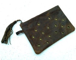 Buffalo Leather Designer Cosmetic Pouch