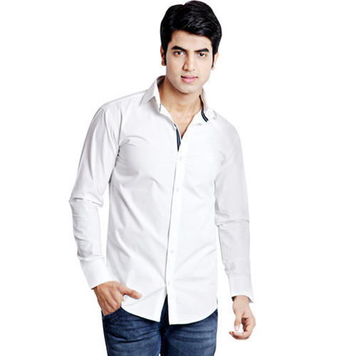 Mens White Cotton Shirt at Rs 300 /piece | Boys Cotton Shirt ...