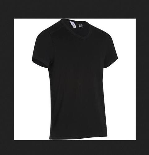 aa511051e5ef Men Black Decathlon 500 Slim-Fit V-Neck Gym , Size: Medium And XL ...