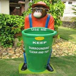 Monkey FRP Dustbin