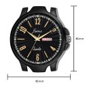Jainx Black Day and Date Functioning Analog Watch for Men's - JM364