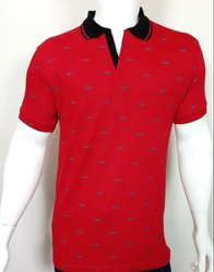 Machine Wash Mens Printed Polo T Shirt