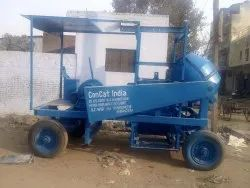 Color Coated Mobile Concrete Mixers