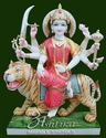 Marble Durga on Tiger Statues