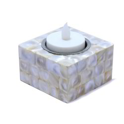 Small White Candle Holder