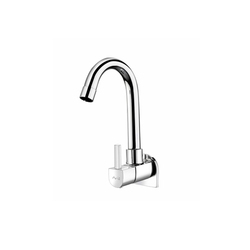 Wall Mounted Sink Cock With Regular Swinging Spout