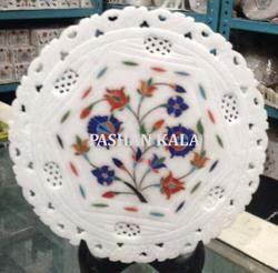 Round Marble Stone Decorative Handmade Plate