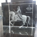 Maharana Pratap 3D Model Crystal Engraved