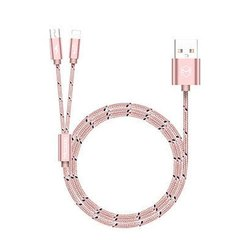 Pink CA-1631 Mcdodo 2 in 1 Rose Gold USB Cable