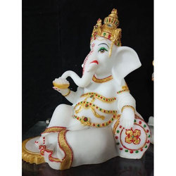 White Marble Ganesh Idol Statue