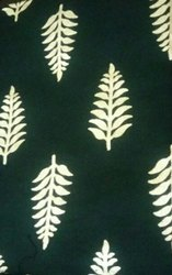 Gold Foil Printed Rayon Fabric