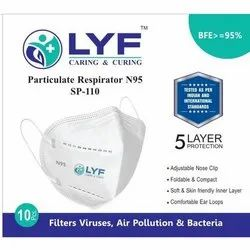 LYF N95- ISI approved Particulate Respirator Face Mask, Number of Layers: 5 Layers