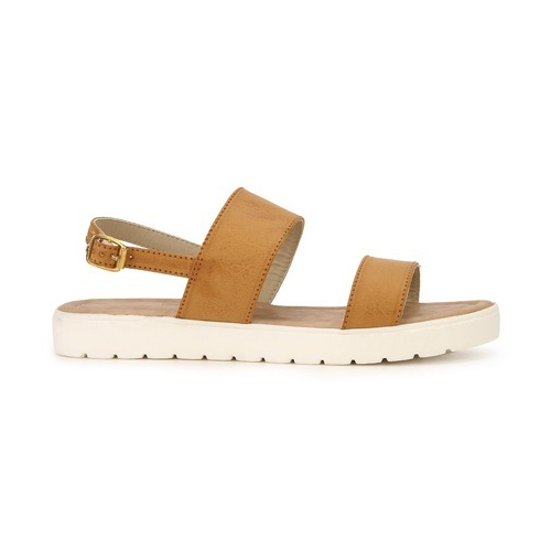 93274199fc08 Stepee Tan Ladies Flat Sandals