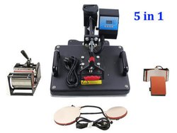 Sublimation products 5 in 1 Heat Press Machine, 2000 Watts, Automatic Grade: Semi-Automatic