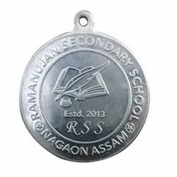 Silver Plated Round Medal