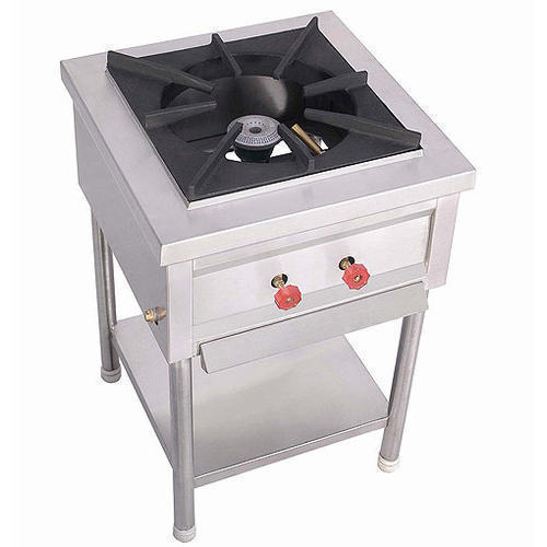 Stainless Steel Single Burner Cooking Range for Restaurant