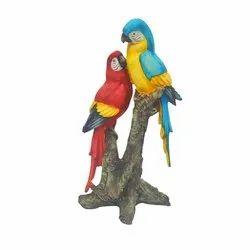Double Parrot Statue