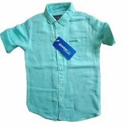 Oshkosh Linen Kids Full Sleeve Plain Shirt