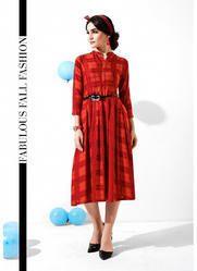 Western Style Rayon Cotton Kurtis
