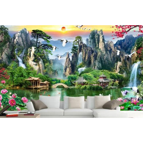 PVC 3D Natural Printed Wallpaper, Thickness: 2-3 Mm, Rs 75 /square