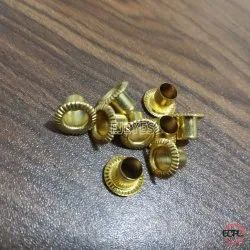 No. 400 Brass Embossed Lines Eyelets Golden