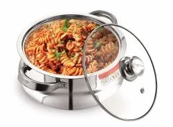 Arhanto Serve Hot Stainless Steel Glass Lid Hotpot