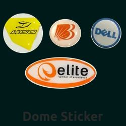 Multicolor Polyurethane Dome Stickers, Packaging Type: Packet