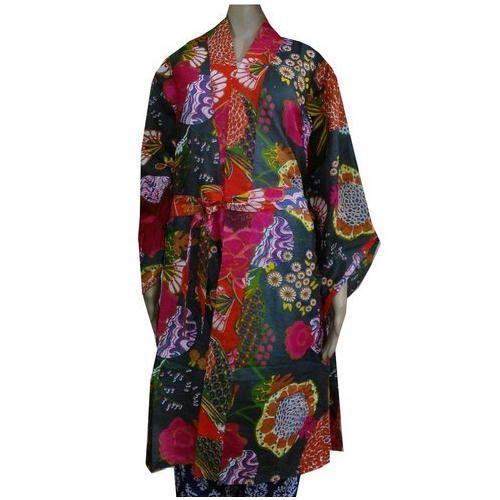 Women Clothing s-12 - Indigo Blue Cotton Bathrobe Exporter from Jaipur 33aacea01
