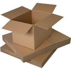 Square Brown Corrugated Packaging Boxes