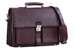 Genuine Leather Brown Spacious Laptop Bags