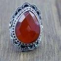 Designer 925 Sterling Silver Jewelry Amethyst Gemstone Ring