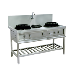 3 LPG Chinese Cooking Range, For Commercial