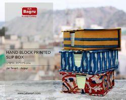 Hand Block Printed Slip Box