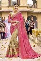Ladies Party Wear Designer Saree, Length: 5.5 m