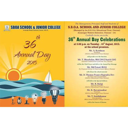 Annual day card view specifications details of invitation card annual day card stopboris Choice Image