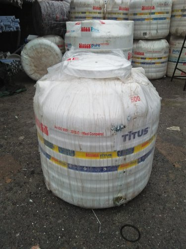 HDPE Round Titus Water Tank, Model Name/Number: Ccts-white, Storage Capacity: 500-1000 L
