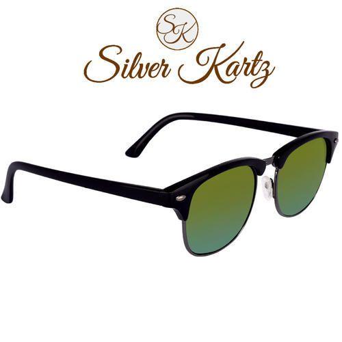58e6c1fd3e Male Silver Kartz WY117 Unisex Clubmaster Classic Wayfarer Sunglass ...