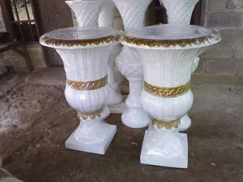 White Wedding Flower Pot