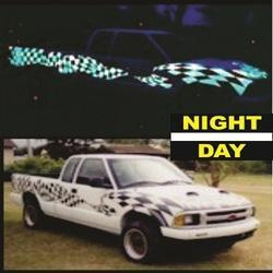 Vinyl Night Glow Vehicle Decals, For Car, Packaging Type: Packet