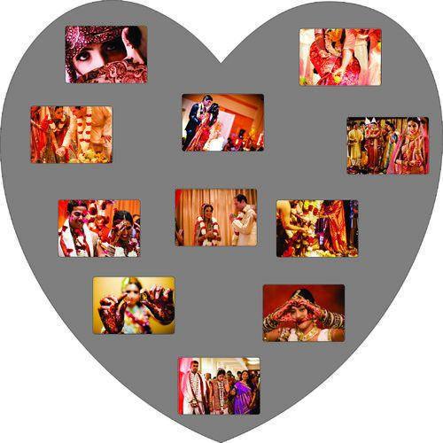 Dark Brown Wooden Photo Heart Shape Frame, Rs 850 /piece | ID ...