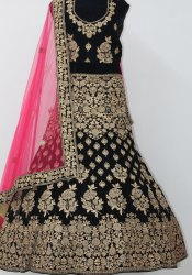 Black Bollywood Lehenga Choli