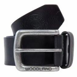 Woodland BT 1073004 Black Men's Leather Belt