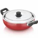 3 Layer Coating Aluminium Veronica Deep Kadai With Ss Lid, For Home, Size: Available In 4 Sizes