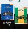 Multicolor Spiral Notebook - King Size - (metal Spiral) - Menorah, Packaging Type: Carton Box