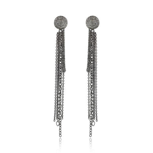 Pave Diamond Disc Earring