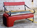 Distressed Furniture - Vintage Industrial Factory Bench for Shisha Cafes, Hooka Bars & Lounges