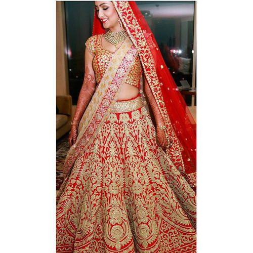 4bb4cc6932 Color-Red, Heavy Bridal Lehenga On Rent, Rs 9000 /piece, Shahi ...