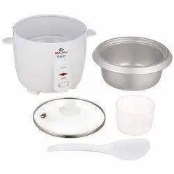 Rcx 1 Mini Capacity(Litre): 0.40 Kg Bajaj Majesty Rice Cooker, Warranty: 2 Years, White