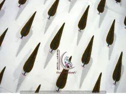 Multi Color Leaf Block Print Cotton Bagru Fabric