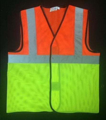 Fluroscent Orange & Green Reflective Safety Combination Jacket